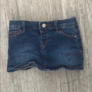 Zara toddler girls denim skirt